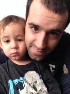 Father & 2 yr old son finally reunited this X-mas after 1 year of being forced apart by...